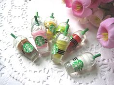 Very Hot and Kawaii Starbucks Cup Ice Cream Cups Coffee Drink Cup Stick Resin Cabochons (30x12mm) Mixed Colors 20pcs/Lot-in Resin Crafts from Home & Garden on Aliexpress.com | Alibaba Group