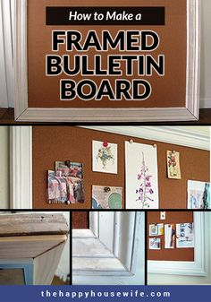 I Love The Framed Corkboards - Especially The Largest Sizes. Lamentably, They're Expensive So I've Looked For Ways To Make A Diy Framed Bulletin Board. Diy Cork Board, Cork Boards, Wood Router, Wood Lathe, Cnc Router, Mason Jar Centerpieces, Diy Frame, Bulletin Boards, Craft Projects
