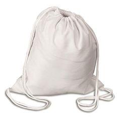 d1af517af344 shop4bag LARGE Color me Cotton Canvas Backpack with Drawstring - Gym Bag  Bulk Buy Cinch Pack