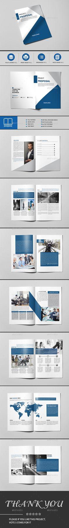 Modern Business Brochure  — InDesign Template #modern catalogue #psd • Download…