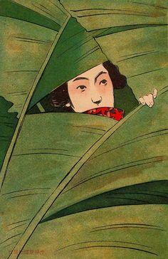 Ehagaki sekai (絵葉書世界), Late Meiji era postcards, Japan, ca. 1908.