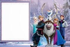 Frozen: Tarjetas o Invitaciones para Imprimir Gratis.