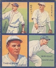 1935 Goudey 4-in-1 (R321) #36 Red Lucas /  Tommy Thevenow /  Pie Traynor /  Glenn Wright Front