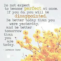 """TOTPOTC -Lorenzo Snow/Chapter 6: """"Becoming Perfect before the Lord """"A Little Better Day by Day"""""""