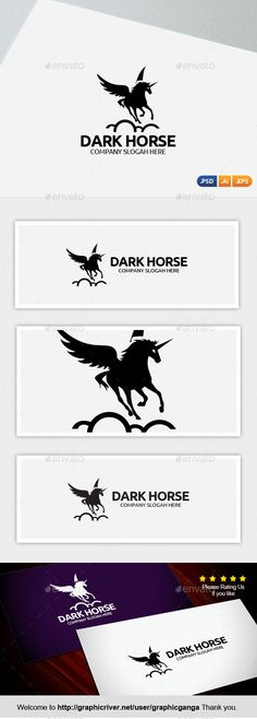 Dark Horse (Vector EPS, AI Illustrator, Resizable, CS, black, challenge, company, could, dark horse, Dead Line, fly, horse, horse ride, marketing, race, victory, win)