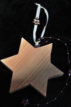 Stella in legno, decorazione per Natale