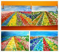 primavera, camps de flors