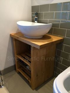 The Racked Wash stand Solid Beam Basin Vanity Unit Wash stand Rustic Furniture Shabby chic hand made Rustic Loft, Rustic Desk, Rustic Doors, Rustic Shelves, Rustic Wall Decor, Rustic Vanity, Rustic Backdrop, Rustic Chair, Bedroom Rustic