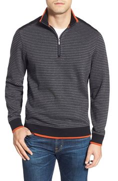 Bugatchi Stripe Pullover available at #Nordstrom