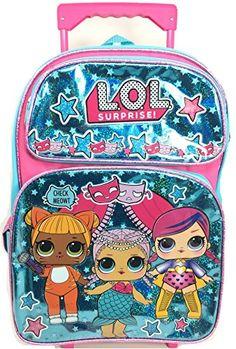 New L.O.L. Surprise! L.O.L Surprise! Large School Backpack 16 Rolling  Backpack Book Bag Blue LOL bag New lol online shopping 3e76025e9531b
