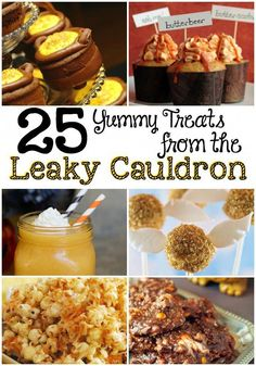 This week we are at Harry Potter World, so to celebrate, here are 25 harry potter snacks we would totally eat at the Leaky Cauldron! You can even find the best dessert recipes! Baby Harry Potter, Harry Potter Snacks, Harry Potter Fiesta, Harry Potter Baby Shower, Harry Potter Halloween, Harry Potter Christmas, Harry Potter Theme, Harry Potter Birthday, Harry Potter Baking Recipes