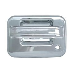 2007 Lincoln Mark LT   Door Handle Cover, Chrome, 4 Piece without Passenger Side Keyhole Base Only with Key Pad:  Dimensions:5.12x3.94x9.84  Fits:  2007 Lincoln Mark LT  2006 Lincoln Mark LT  Finish:Chrome  Part No:DH68110D1  Discount Price: $29.99