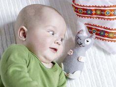Basteln für Babys: Selbst genähte Katze
