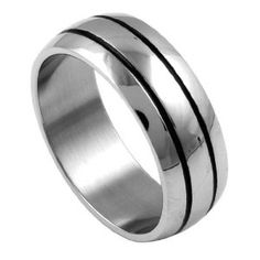 316L Stainless Steel High Polish Stripe Laser Cut Ring - Size 12 (Jewelry)  http://www.1-in-30.com/crt.php?p=B003FYVNPO  B003FYVNPO