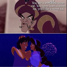 Aladdin lived happily ever after and everything worked out for him in the end. I'm sure that just made the hateful character even more angry lol!