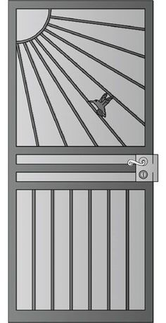 Security Screen Doors : Great Gates and Whiting Iron in Phoenix AZ Grill Gate Design, House Gate Design, Window Grill Design, Door Gate Design, Steel Security Doors, Security Screen, Metal Gates, Iron Gates, Steel Gate