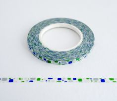 Green Blue Grey Pebbles - Ultra Thin Washi Tape