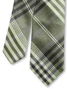 banana republic green classic plaid silk tie