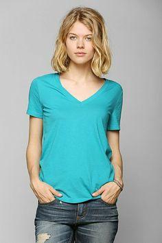 UO Washed V-Neck Tee Shirt
