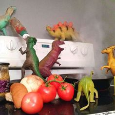 Dinovember: Parents spend month convincing their children that their toy dinosaurs come to life