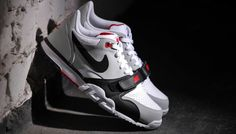 "Nike Air Trainer 1 Low ""Black, Grey & Red"" I had a pair growing up best shoes ever"
