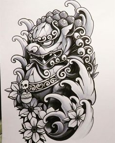 ... Foo Dog on Pinterest | Irezumi Foo dog tattoo and Japanese tattoos