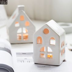 Cheap christmas gift containers, Buy Quality christmas gifts for married couples directly from China gift sky Suppliers:  Clay Houses, Ceramic Houses, Ceramic Clay, Ceramic Pottery, Cheap Christmas Gifts, Homemade Christmas Gifts, Christmas Diy, House Candle Holder, Candle Holders Wedding