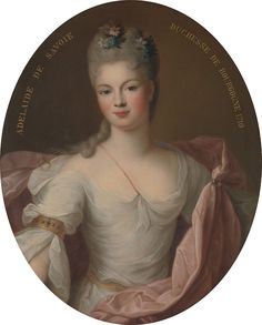 Marie Adélaïde of Savoy (1685–1712), Duchess of Burgundy in 1710 by Pierre Gobert  http://upload.wikimedia.org/wikipedia/commons/thumb/1/18/Marie_Ad%C3%A9la%C3%AFde_of_Savoy_(1685%E2%80%931712),_Duchess_of_Burgundy_in_1710_by_Gobert.jpg/822px-Marie_Ad%C3%A9la%C3%AFde_of_Savoy_(1685%E2%80%931712),_Duchess_of_Burgundy_in_1710_by_Gobert.jpg