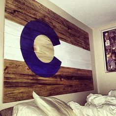 Colorado Flag - love this. Consider smaller ones of each state lived in...both me and future husband.