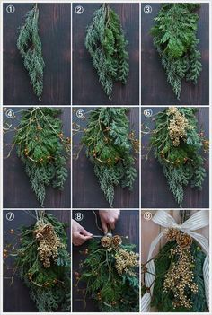 Easy to Make Outdoor Christmas Decorations on a Budget – Farmhouse Decor Christmas Flower Decorations, Christmas Swags, Christmas Tree Wreath, Christmas Centerpieces, Holiday Wreaths, Christmas Front Doors, Christmas Door, Rustic Christmas, Christmas Holidays