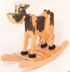Rocking Horse Building Plans | bessie cow rocker plans clyde n dale rocking horse plans