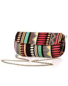 Colourful Aztec Print Box Clutch multi35
