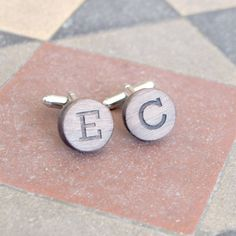personalised initial wood cufflinks by made lovingly made   notonthehighstreet.com