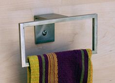 Towel Holder, Towel Rack, Kitchen or Bath, Modern Design, Minimal Style, Stainless Steel