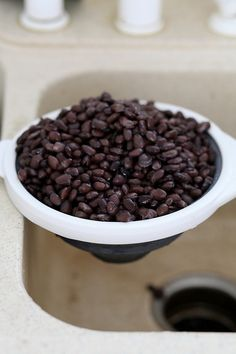 How to cook dried beans instead of buying canned. Cooking healthy on a budget.