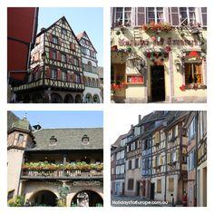 Beautiful buildings in Colmar, France
