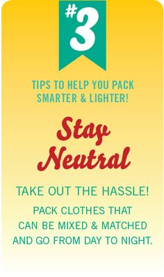 #PinUpLive Packing Tip No. 3 - Stay Neutral