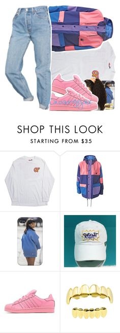 """""""12/30/16"""" by xbad-gyalx ❤ liked on Polyvore featuring Lazy Oaf, adidas Originals and Urban Outfitters"""