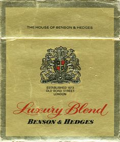 <b>BENSON & HEDGES Luxury Blend The House Of Benson & Hedges…
