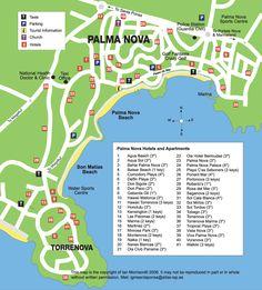 map of palma nova mallorca (majorca)