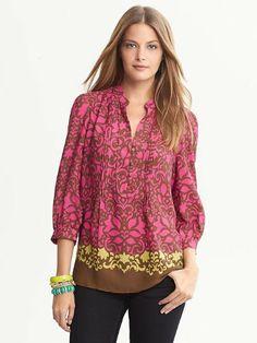 Banana Republic Bold Floral Blouse #Clothes