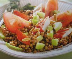 Receta de Ensalada de lentejas y cangrejo