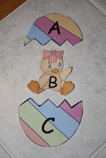 Alphabet Eggs and Chicks!