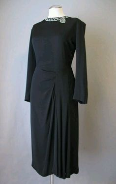 1940's Drape dress.