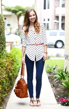 Mom Friendly Trends: The Oversized Blouse- you MUST have a belt to show your waist for this look to work and not look frumpy