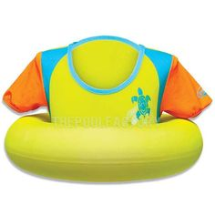 SwimWays Swim Sweater 00233 Colors may Vary. Stable, circular torso design. Two pre-swimming positions. Sun sleeves add extra UV protection Promotes confidence in the water. #aboveground #pool #safety #lifevest #vest #lifejacket #precaution #supplies