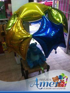 Paracaidas con globos. Envío a domicilio. www.regalosamer.com.mx
