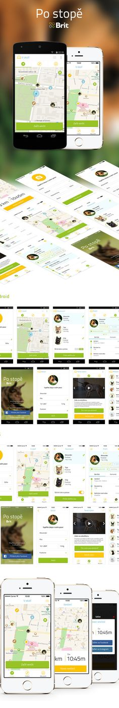 BRIT - Mobile Apps by Michael Dolejš, via Behance