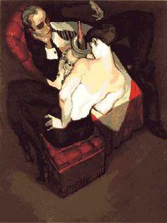 """Juarez Machado, """"Mots doux glissés au creux de l'oreille"""", série """"La fête continue"""", 1998."""