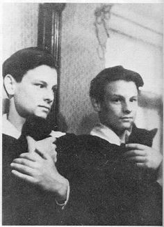Andrei Tarkovski in front of the mirror